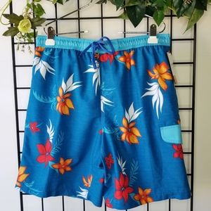 Burnside Blue Orange Swim Shorts Swimwear Large